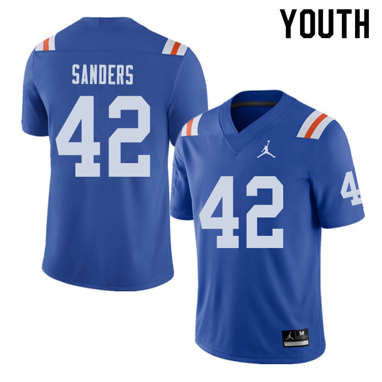 Jordan Brand Youth #42 Umstead Sanders Florida Gators Throwback Alternate College Football Jerseys S